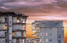 Abriss Wohngebäude