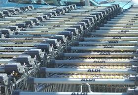 Aldi-Einkaufswagen