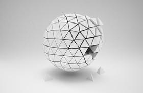 Ball als Gesamtheit mit einzelnen Teilen