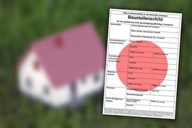 Baugenehmigung Antrag Baustellenschild