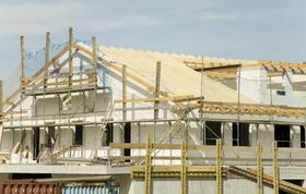 Baustelle Dach und Gerüst