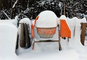 Baustelle Winter