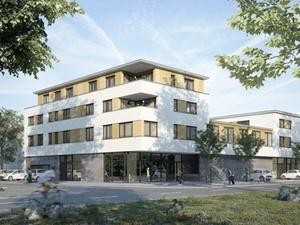 Neubau in Stegen: Bauverein Breisgau feierte Richtfest