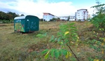 Bauwagen Neubaugebiet Grundstück