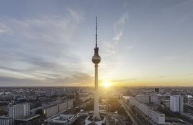 Berlin Alex Sonnenuntergang Sonnenaufgang