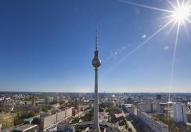 Berlin Panorama Häuser Dächer Alex