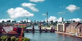 Berlin Panorama Spree Alex