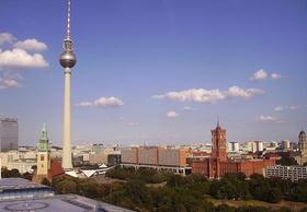 Berlin Stadtansicht Alex Rotes Rathaus