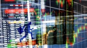 Beteiligung Mann Schatten rennt Aktienkurse hoch