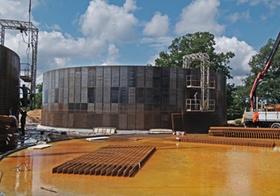 Baustelle einer Biogasanlage