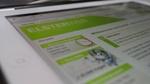 Bildausschnitt der ELSTERWEB-Homepage auf weißem iPad