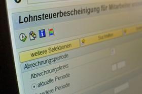 """Bildschirmausschnitt mit Text """"Lohnsteuerbescheinigung"""""""