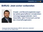 BilRUG FAQs - Ansatz und Bewertung