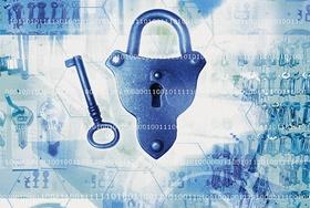 Binärzahlen mit Schlüssel und Schloss