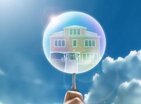 Blase Haus Hand Schlüsse Immobilienblase