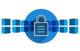 blockchain-Blöcke mit Schloss in der Mitte_pixabay