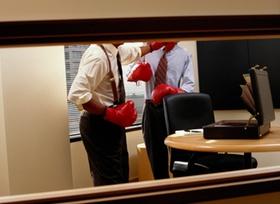 Boxkampf im Büro