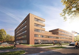 Bremen Hauptzollamt mit Flaggen, Strabag Real Estate GmbH