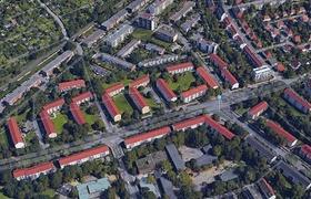 Bremen Luftaufnahme Gebiet Kundenanlage
