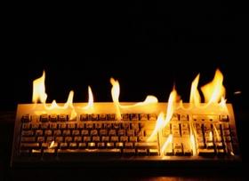 Brennende Tastatur