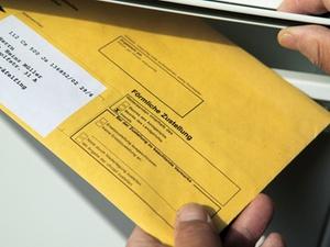 Postversand durch privaten Briefdienstleister