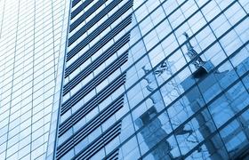 Büro-Fassade aus Glas New York