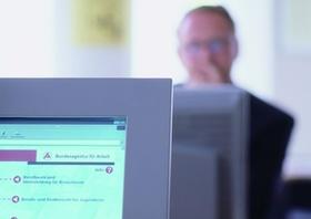 Bundesagentur fuer Arbeit, Jobsuche am Computer
