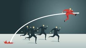 Business-Mann, Sport Training, Illustration