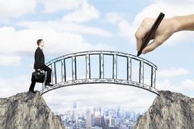 Businessmann Mann Business Brücke Finanzierung