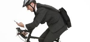 Sicher mit dem Fahrrad zur Arbeit - Wegeunfälle vermeiden