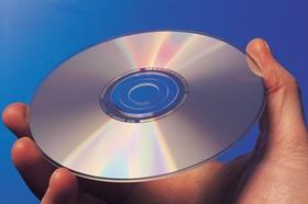 Hand mit CD
