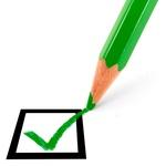 Checkliste grüner Haken