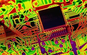 Circuit board Nahaufnahme Microprocessor chip