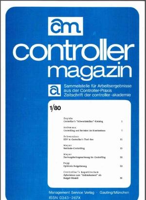 Controller Magazin Ausgabe 2/1980   Controller Magazin