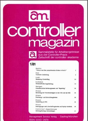 Controller Magazin Ausgabe 1/1981 | Controller Magazin