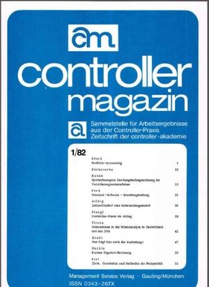 Controller Magazin Ausgabe 1/1982 | Controller Magazin
