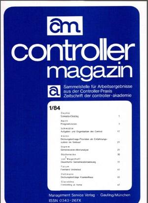 Controller Magazin Ausgabe 01/1984 | Controller Magazin