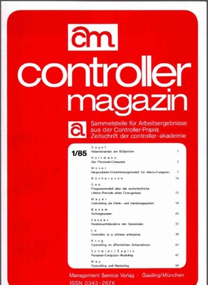 Controller Magazin Ausgabe 01/1985   Controller Magazin