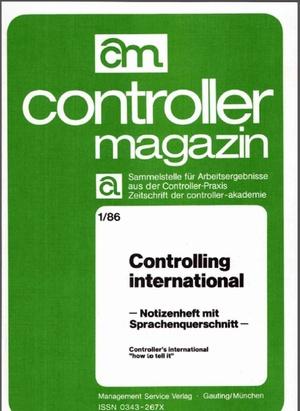 Controller Magazin Ausgabe 1/1986 | Controller Magazin