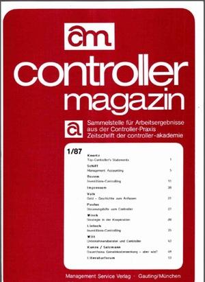 Controller Magazin Ausgabe 1/1987   Controller Magazin