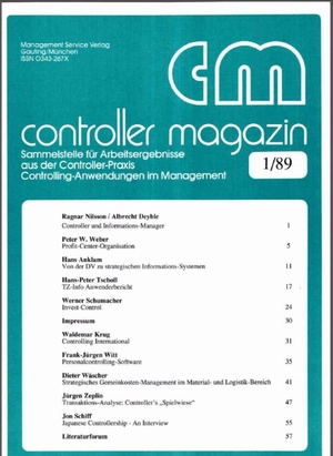 Controller Magazin Ausgabe 1/1989   Controller Magazin