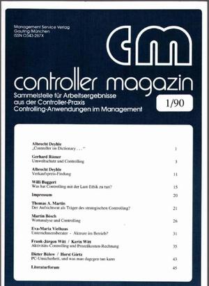 Controller Magazin Ausgabe 01/1990 | Controller Magazin