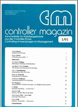 Controller Magazin Ausgabe 01/1991 | Controller Magazin