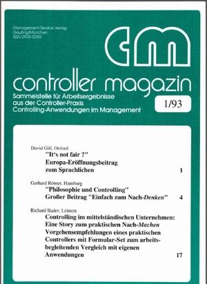 Controller Magazin Ausgabe 01/1993 | Controller Magazin