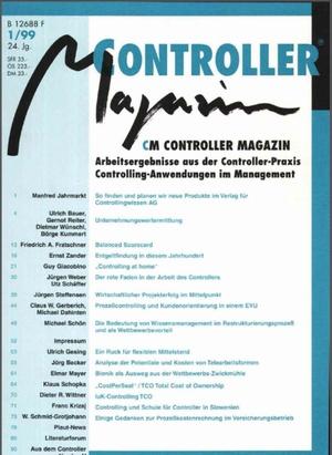 Controller Magazin Ausgabe 1/1999   Controller Magazin