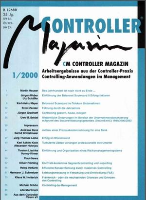 Controller Magazin Ausgabe/2000 | Controller Magazin