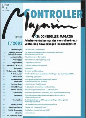Controller Magazin Ausgabe 1/2003 | Controller Magazin