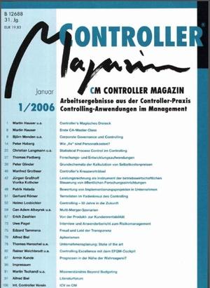 Controller Magazin Ausgabe 1/2006   Controller Magazin