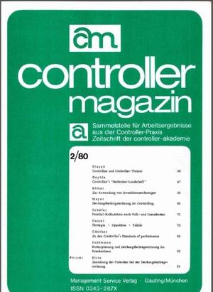 Controller Magazin Ausgabe 2/1980 | Controller Magazin