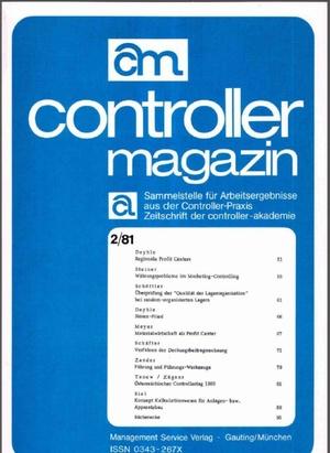 Controller Magazin Ausgabe 2/1981   Controller Magazin